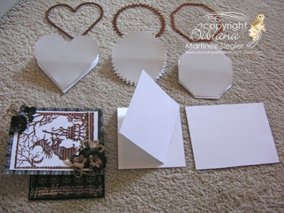 how to make easel cards samples  flat