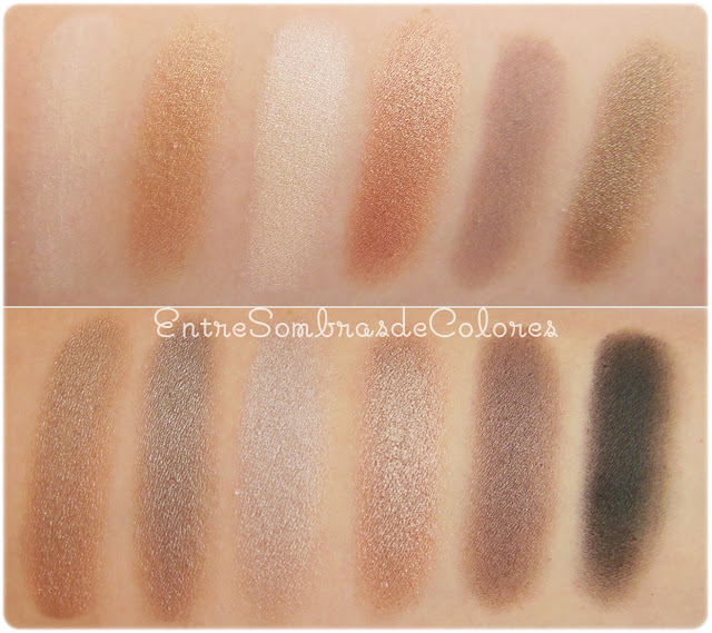 swatches paleta Iconic 2 Makeup Revolution