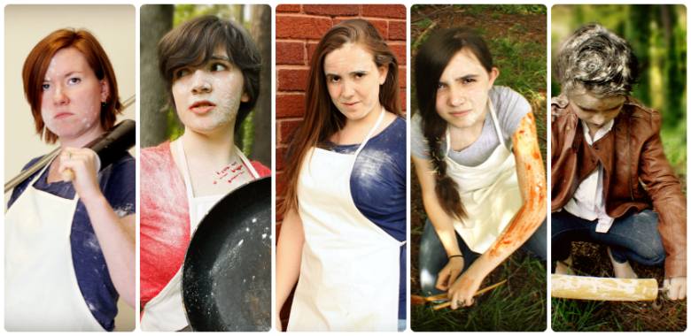Cook girls get ready to do battle ... with recipes
