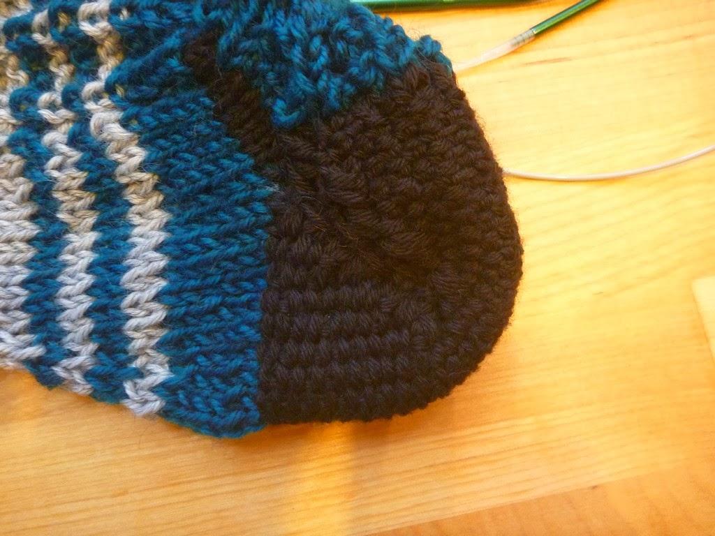 Knitting Instep Stitches : 2 Stitches: Linen Stitch Short-Row Heel, First Try