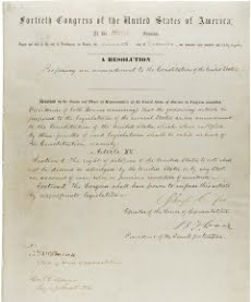 This Day In History - 1870 - GOP Initiated 15th Amendment, Guaranteeing The Right to Vote Regardles