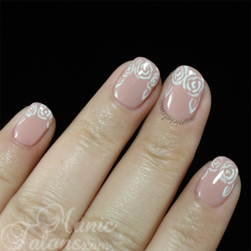 Pink Gellac Gel Polish Nude Beige with Roses