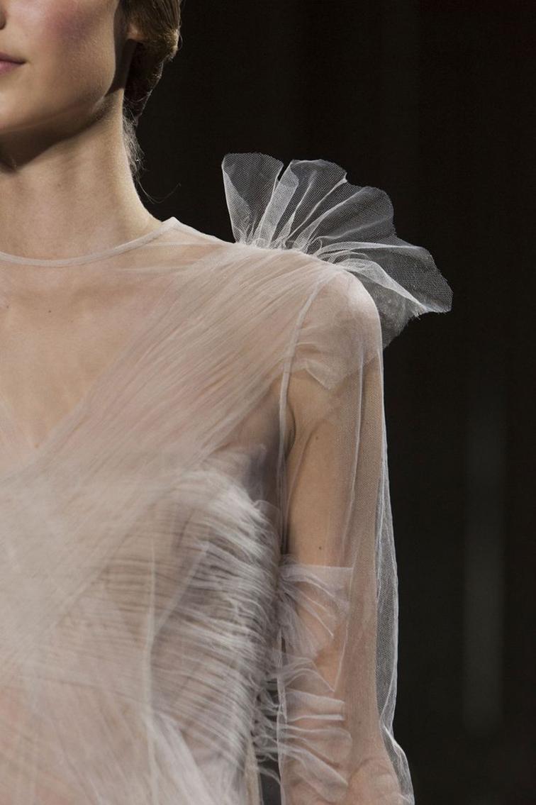 Valentino runway, tulle dress, delicate, ballerina style