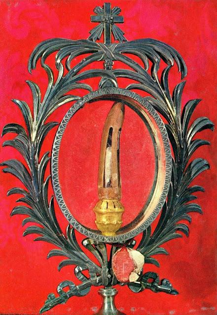 Το δάκτυλο του Αποστόλου Θωμά, με το οποίο ψηλάφησε τον τόπο των ήλων του αναστημένου Ιησού. http://leipsanothiki.blogspot.be/