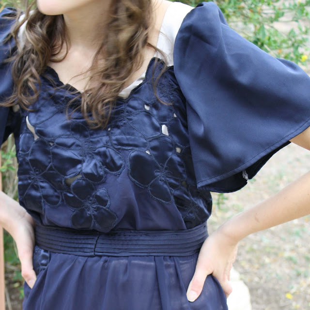 Cutwork dress by Melly Sews