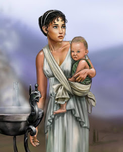 ancient girl and child