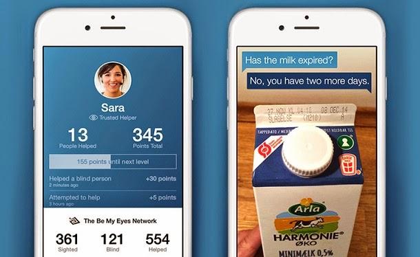 Aplicativo permite ao usuário ajudar invisuais ao ser os seus olhos