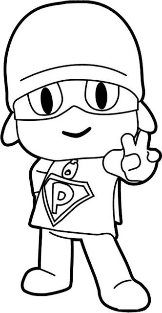 Desenho Pocoyo para colorir