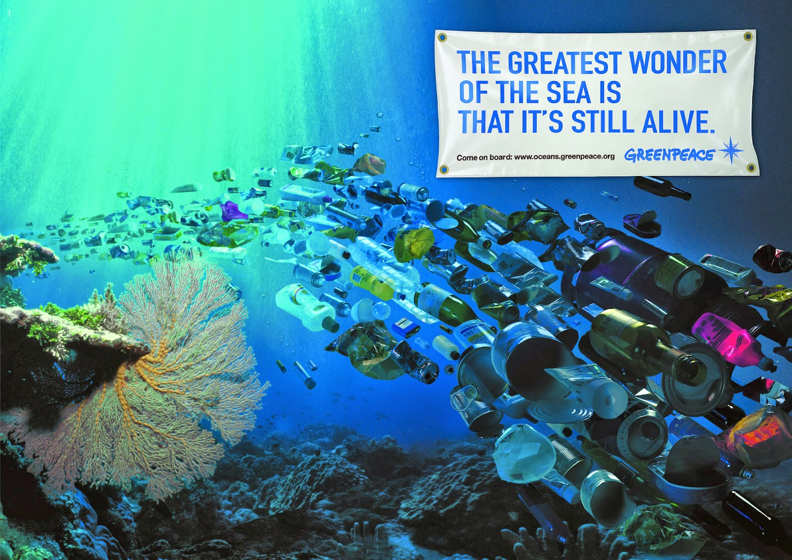 water pollution impacts on the environment  greenpeace advert
