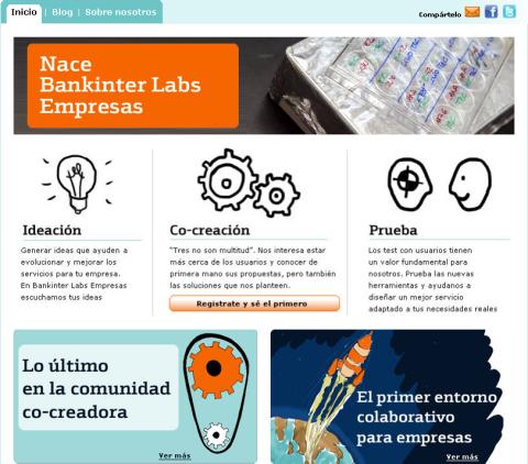 Ecran Bankinter Labs Empresas