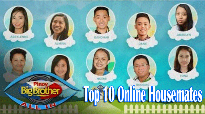Complete List of PBB All In Official Top 10 Online Housemates