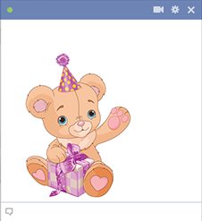 Birthday teddy for Facebook