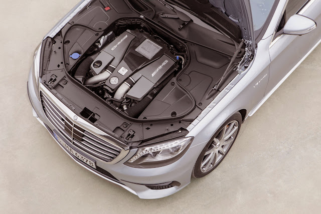 2014 Mercedes S 63 AMG engine