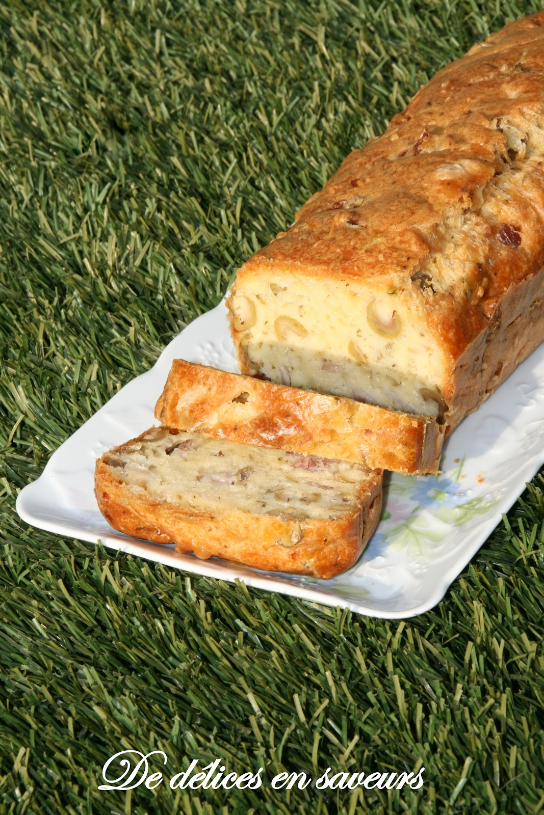 Cake Lardons Olives Noirechevre