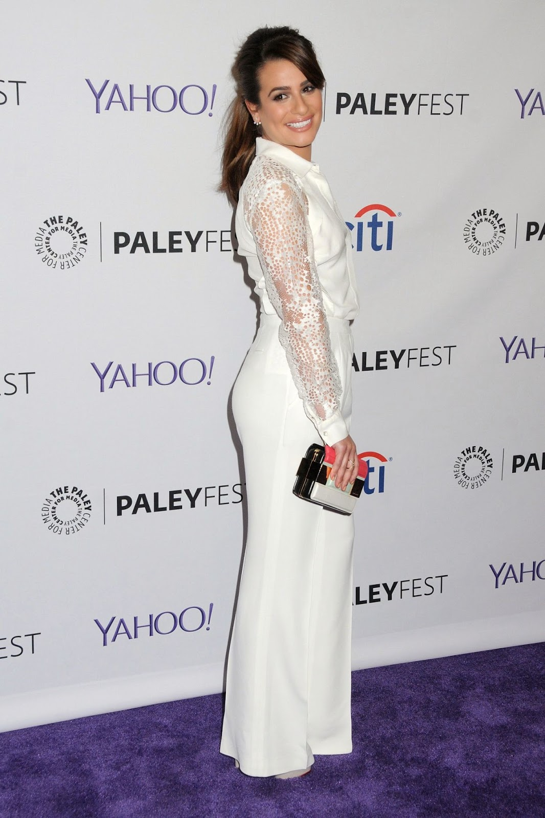 Actress @ Lea Michele at The Paley Center Glee Event for Paleyfest in Hollywood