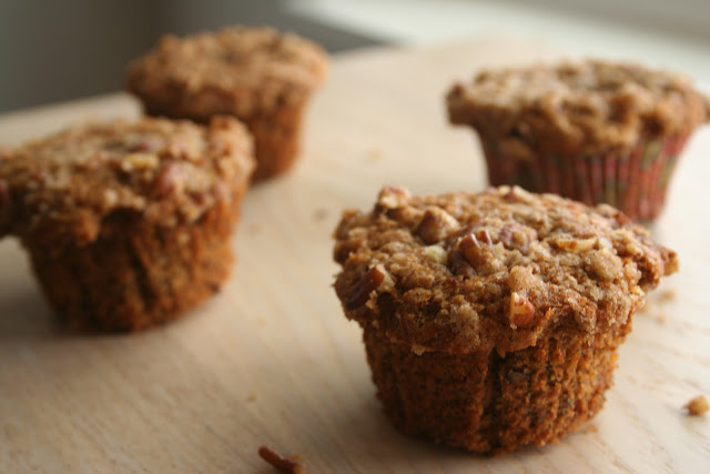 Maple Banana Nut Muffins
