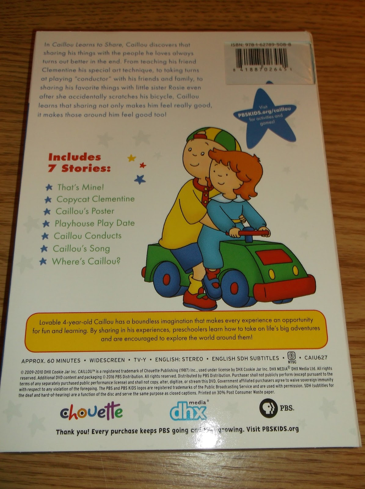 Missys Product Reviews Caillou Learns To Share