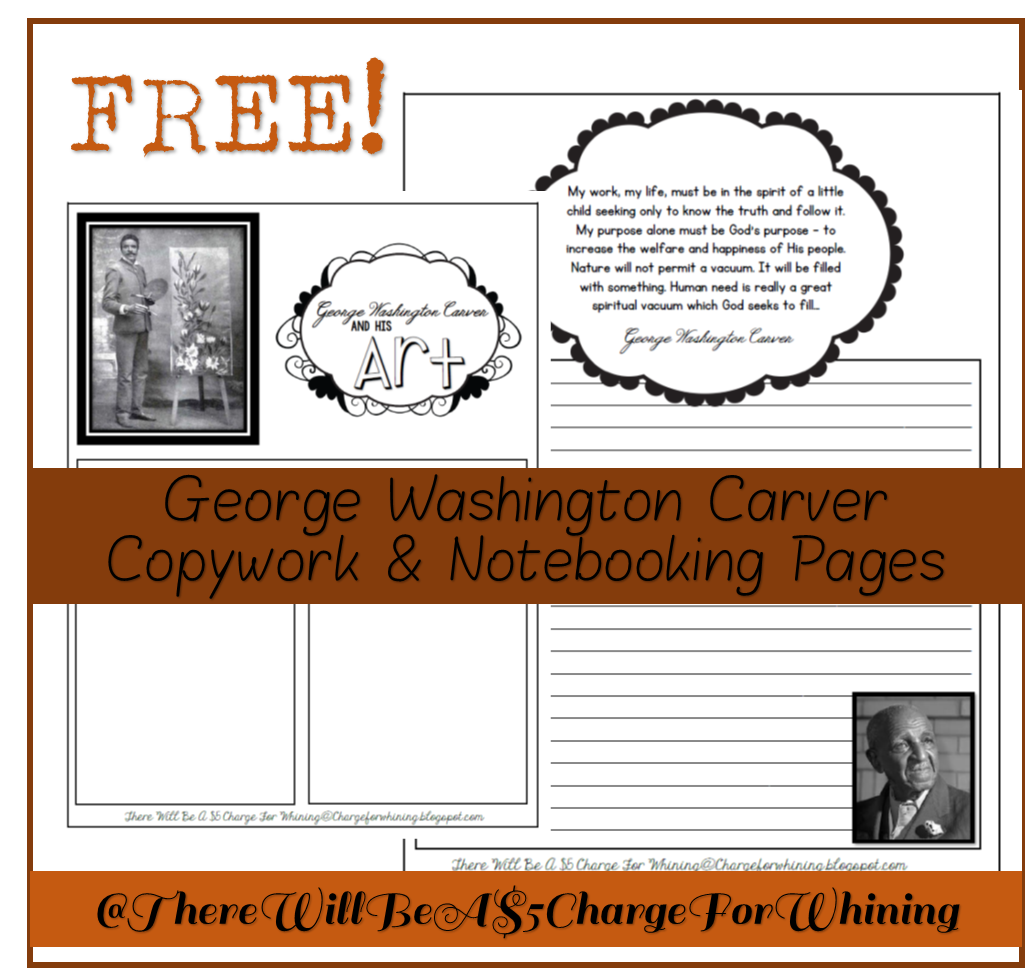 George washington carver crafts - George Washington Carver Copywork Notebooking Pages Free