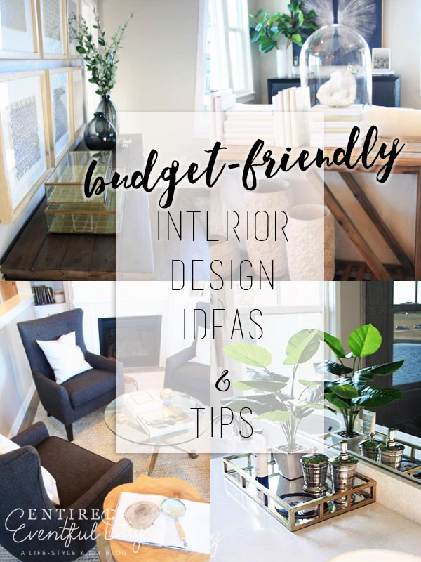 Budget friendly interior design ideas. Easy things that I can actually do. Love these decorating tips.