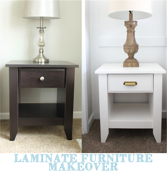 laminate furniture makeover. paint laminate again i think definitely would try that out it serves as both a primer and which probably make the process lot easier furniture makeover e
