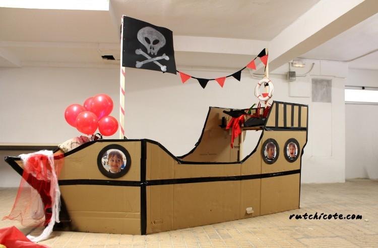 Barco pirata diy de cartón