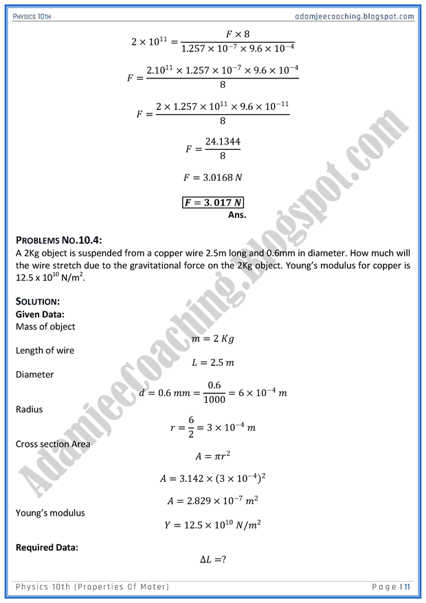properties-of-mater-solved-numericals-physics-10th