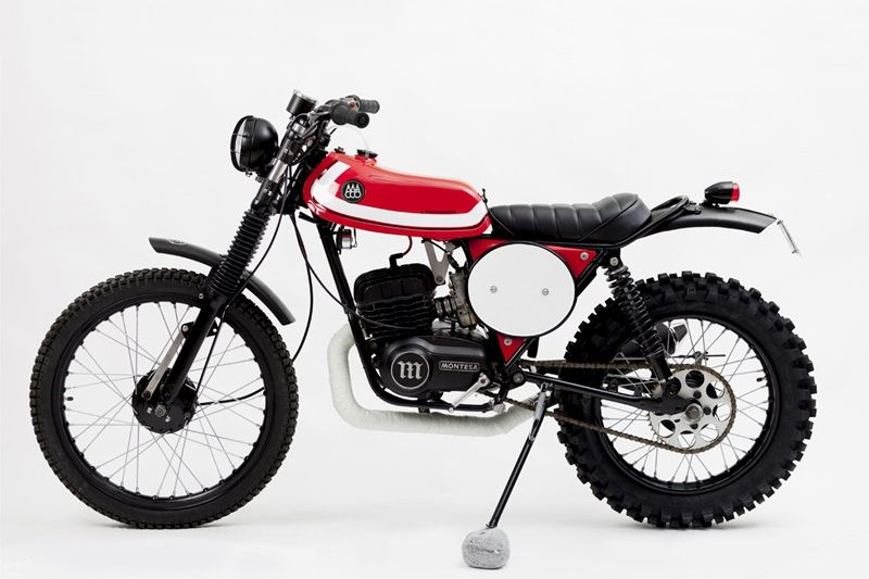 Custom Enduro Based on 1975 Montessa Enduro 75L by Macco Motors Custom Enduro Monty is a new classic custom Enduro Motorcycle that is customized by Spanish specialists Macco Motors