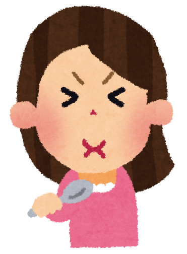 イラスト イラスト 無料 魚 : 味覚の表情のイラスト(女性 ...