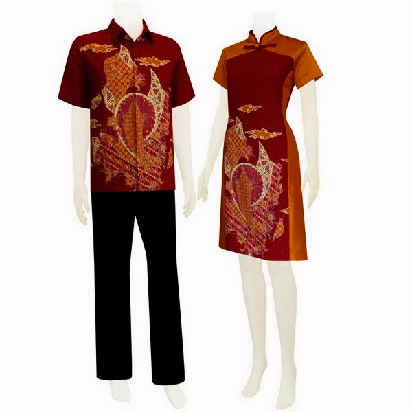 Butik Baju Batik Dress Sarimbit Eksklusif Modern 2014