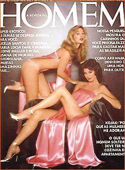 Confira as fotos de Aldine Miller e Rosa, capa da Revista Homem de junho de 1978!