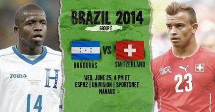 Partido Honduras vs Suiza