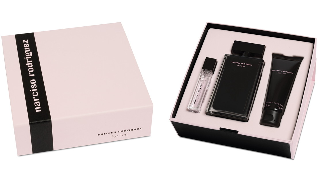 the beauty alchemist narciso rodriguez for her holiday gift set. Black Bedroom Furniture Sets. Home Design Ideas