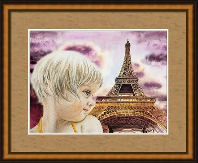 realism in watercolor French painting