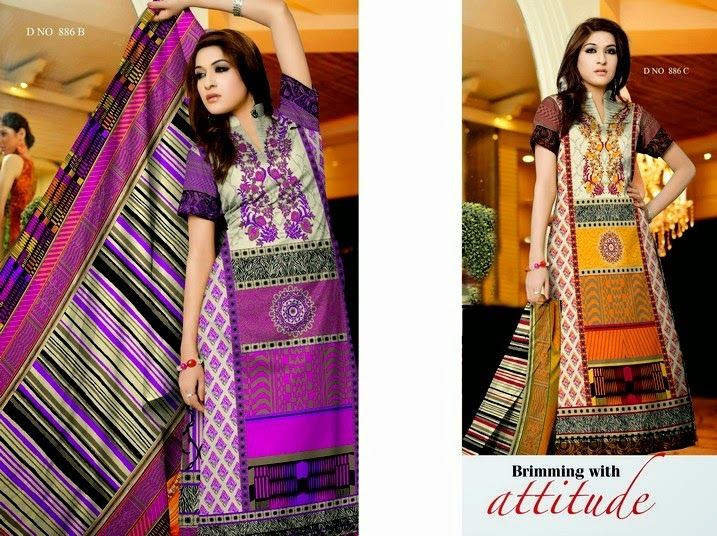 Unique Krinkle Chiffon Lawn Summer Collection 2014