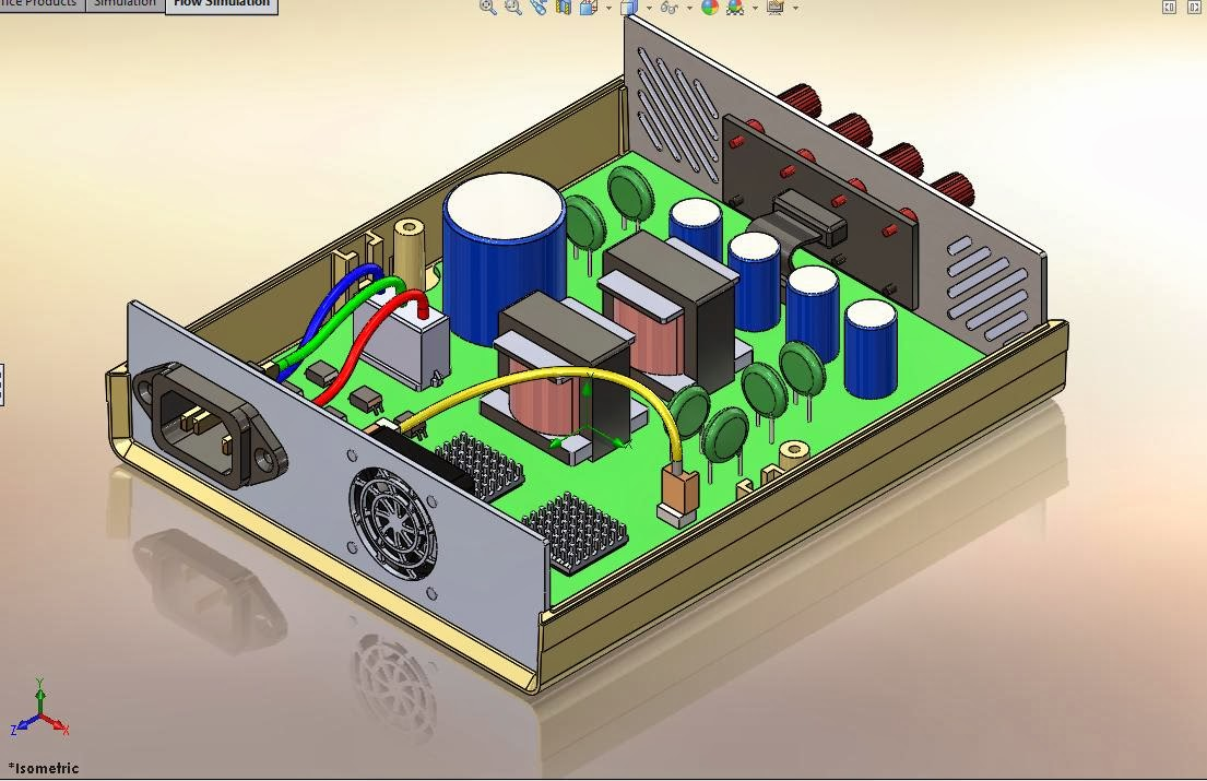 How can i make the simulation calculation time shorter is a power supply box which drawn by using solidworks the air flow pattern inside this box is studied by using solidworks flow simulation software baditri Images