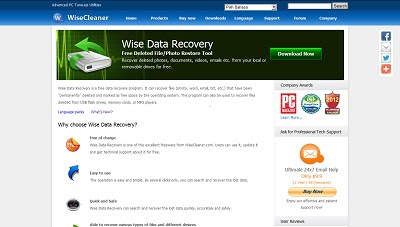 Wise Data Recovery, Recovery