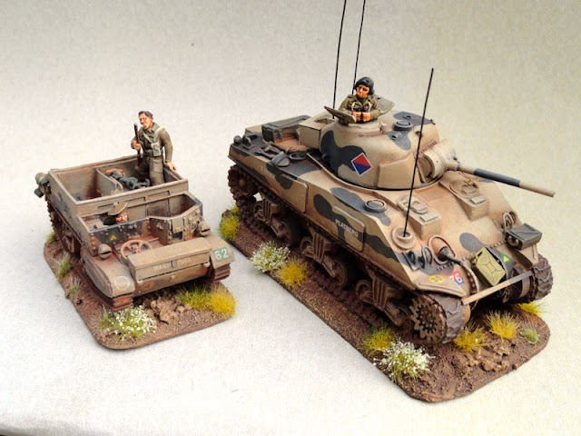 Sherman V, 4/22 Field Artillery, South African 6th Armoured Division 1944, Warlord Games, First City/Cape Town Highlands Carrier Platoon Universal Carrier, Warlord Games, 28mm, 1/56th