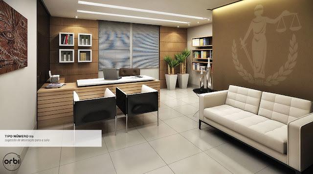decoracao de interiores escritorio advocacia: toques de preto nas poltronas para deixar o ambiente mais sofisticado