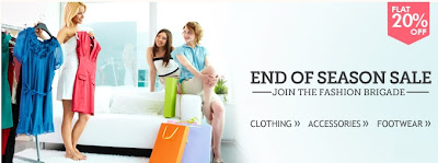 Enjoy Flat 20% Off on Men's / Women's Clothing | Footwear | Fashion Accessories at HomeShop18 (Valid till 14th July'13)