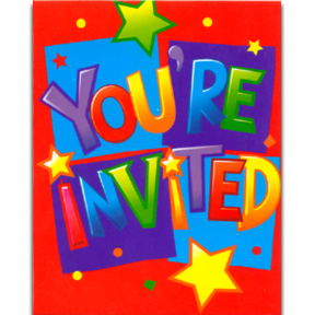 you are invited for birthday party