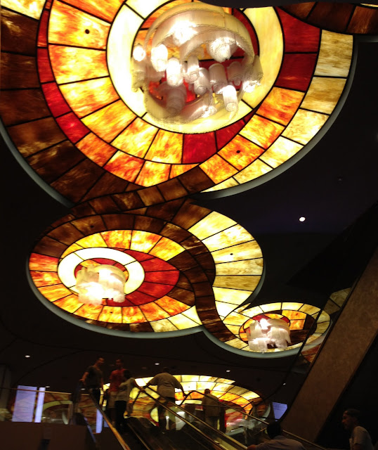 stained glass ceiling in Vegas