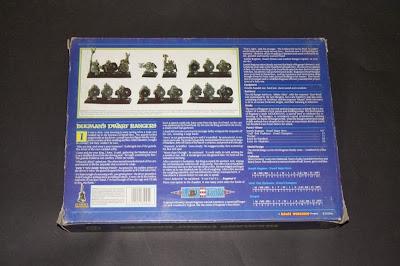 Contraportada de la caja RRD1 - Bugman's Dwarf Rangers