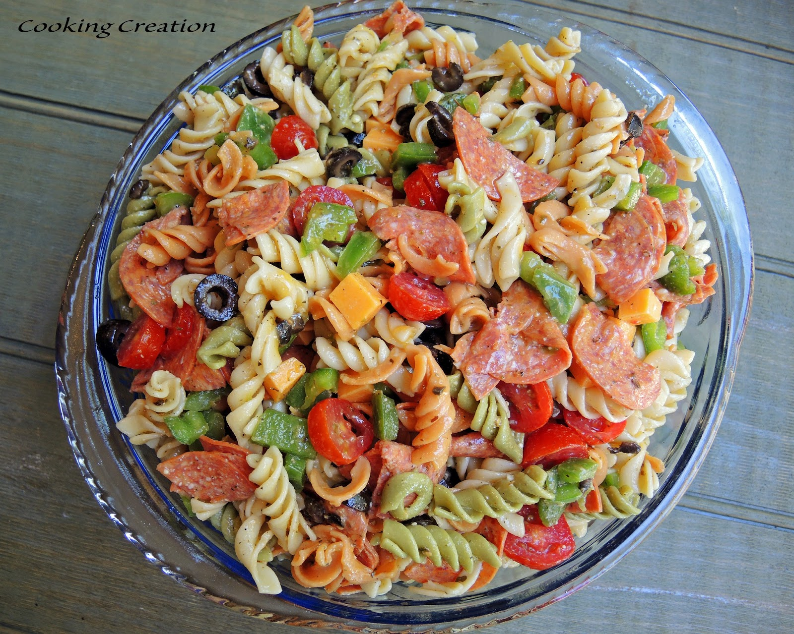 Cooking Creation: Italian Pasta Salad with Pepperoni & Red Wine ...