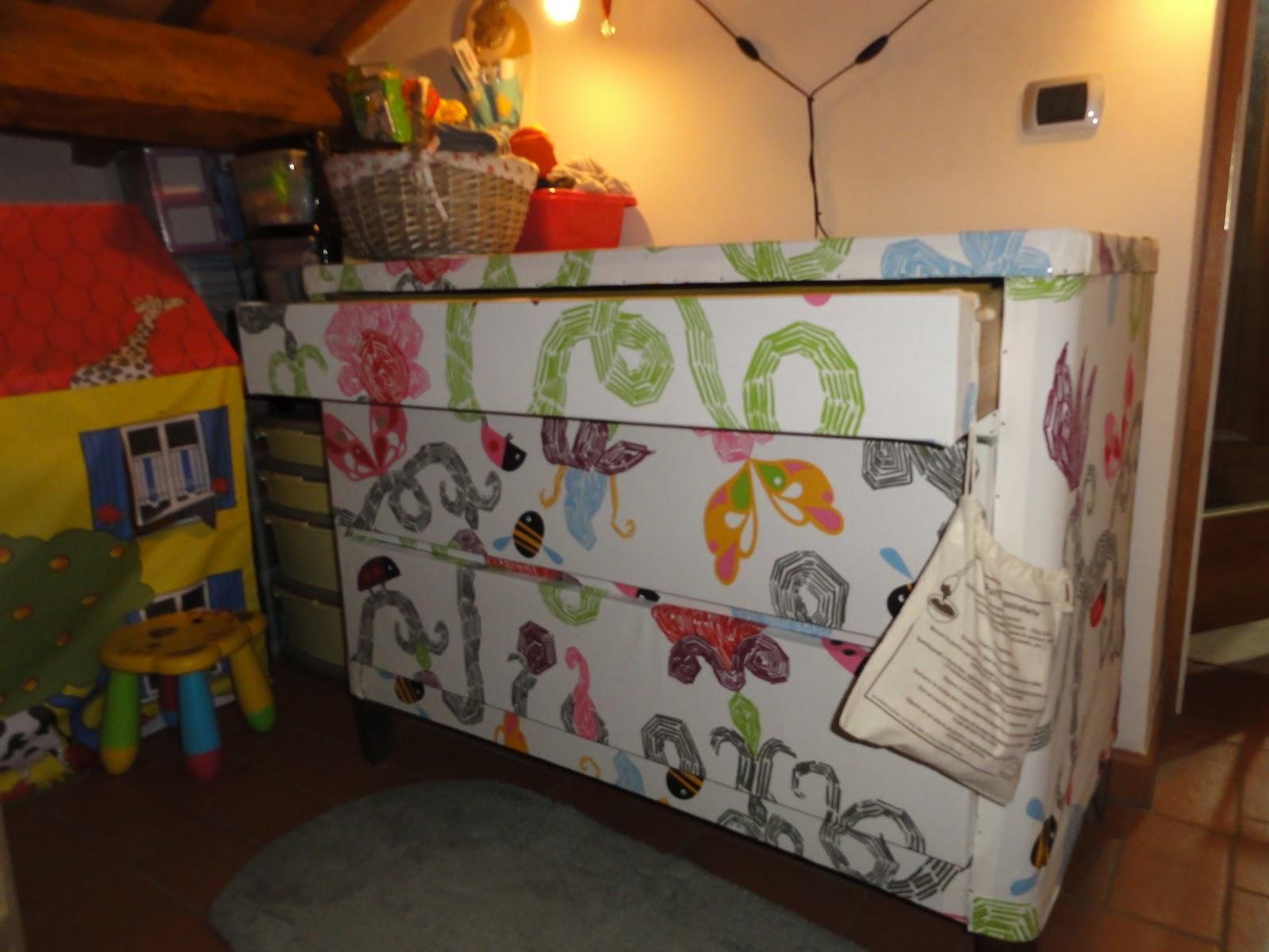 Aria di montagna rivestire un mobile con la stoffa - Tecniche per rinnovare mobili ...