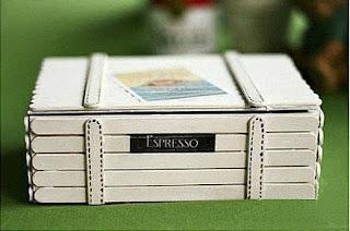 ide kreatif cara membuat kerajinan Kotak ajaib dari stik es krim