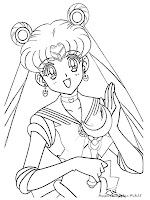Halaman Mewarnai Gambar Sailormoon