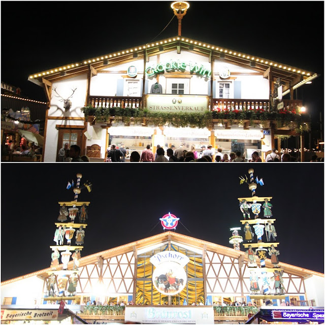 Beer Houses at Octoberfest Festival in Munich, Germany