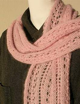 Easy Lace Scarf Knitting Patterns Free : Knitting With Karma: What to Knit - Holiday 2011 vol 3 - Scarves & Shawls