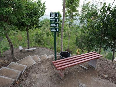 Petunjuk wisata di Kalibiru Kulonprogo