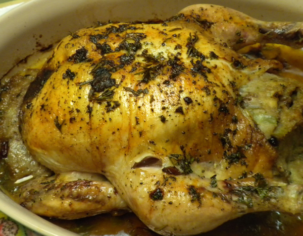 how to cook a small chicken with stuffing